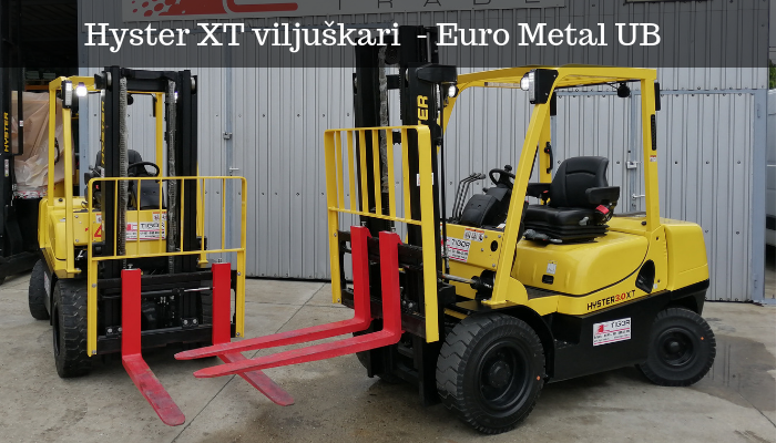 Hyster 3.0XT viljuškari - Euro Metal UB