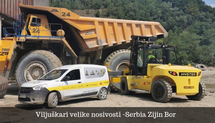 Hyster viljuškar 16T nosivosti - Serbia Zijin Bor