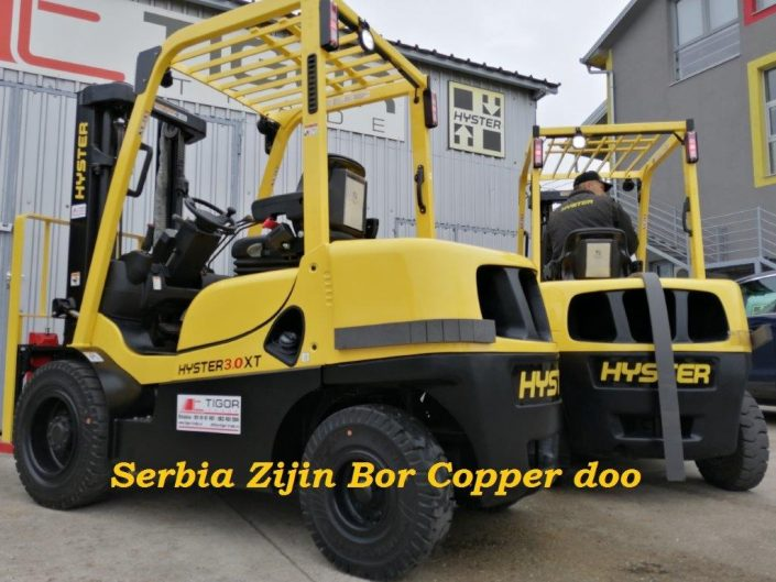 Hyster dizel viljuškari Serbia Zijin Bor Copper Doo